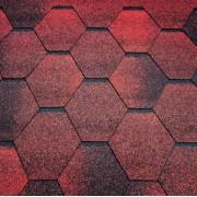 Тегола Черепица Мозаик красный гранит