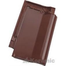 Черепица Koramic Alegra 12 медно-коричневая благородная