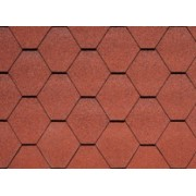 IKO Superglass HEX  Tile Red